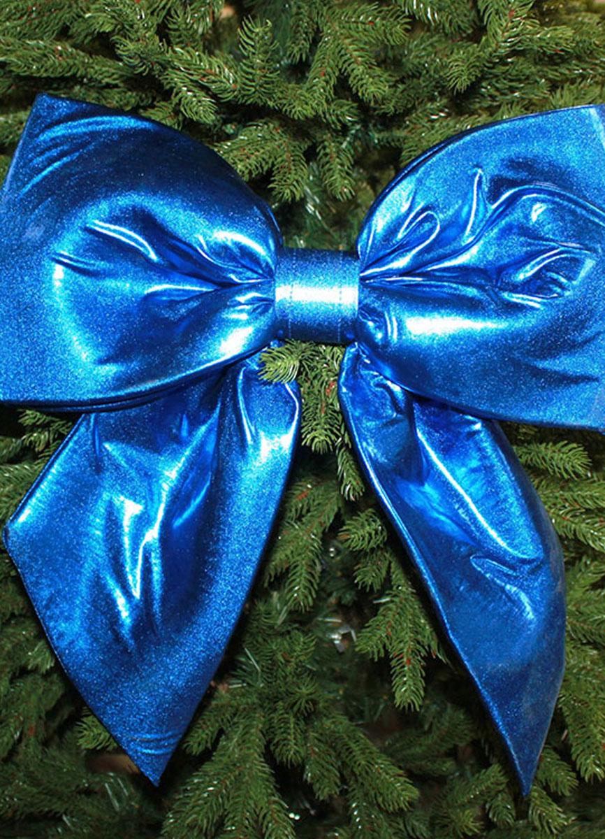 бант синий на новогоднюю елку